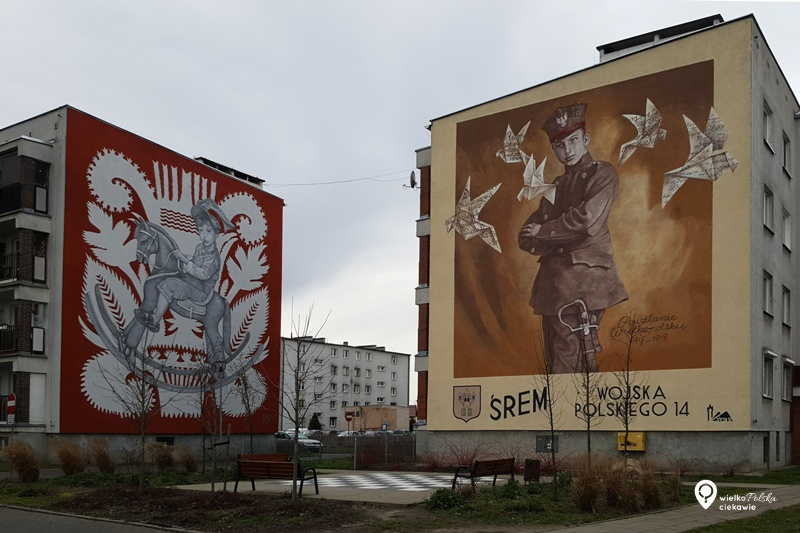 Śrem, powstanie wielkopolskie, mural, streetart, najładniejsze murale w polsce, murale w wielkopolsce