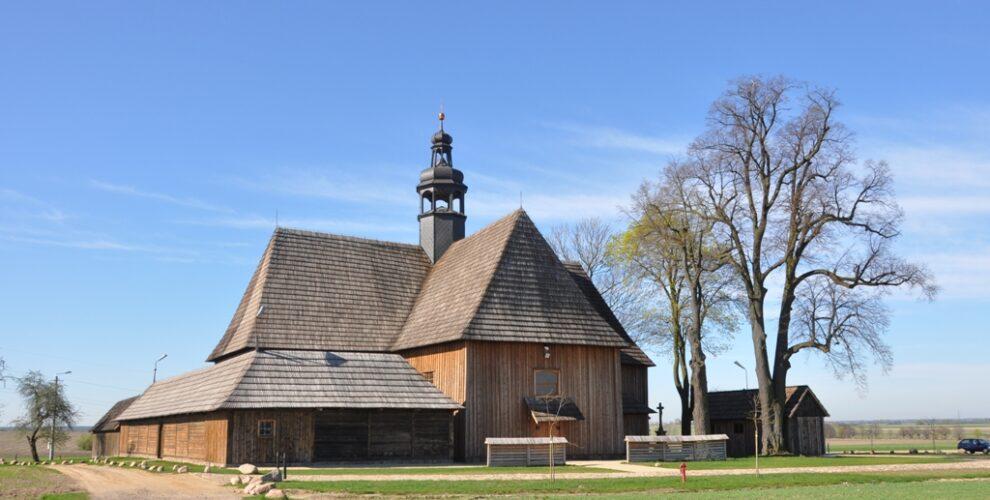 kościół drewniany, wielkopolska, ciekawe miejsca w wlielkopolsce, bralin