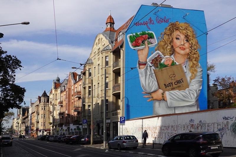 poznań, streetart, mural, gessler, ciekawe miejsca w poznaniu, jeżyce, dąbrowskiego
