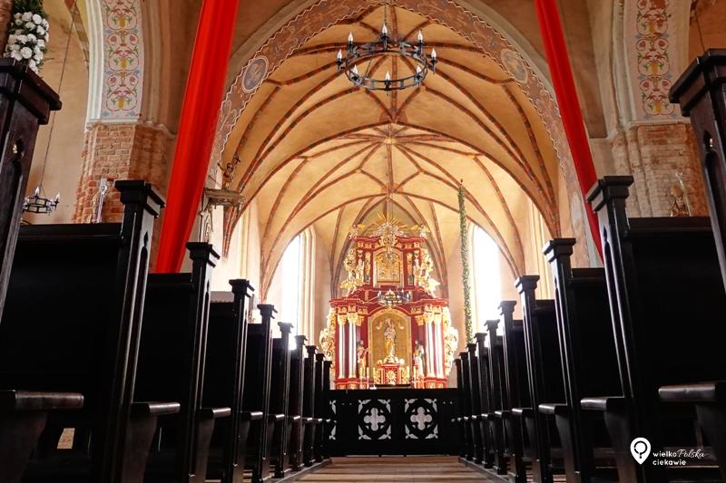 Łekno, gotyk, kościół, wielkopolska, szlak piastowski, wągrowiec, cystersi